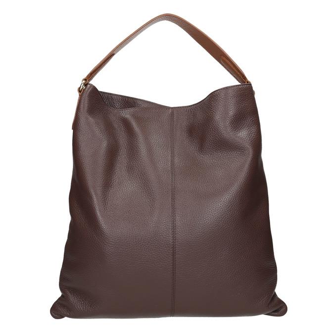 Skórzana torba damska wstylu hobo bata, brązowy, 964-4236 - 16
