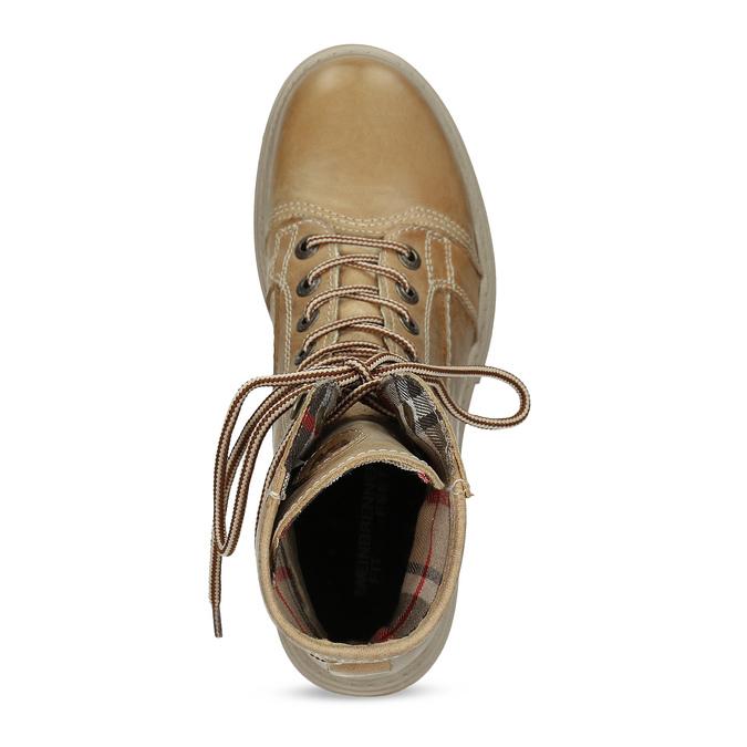 Jasnobrązowe skórzane obuwie damskie weinbrenner, brązowy, 596-3758 - 17