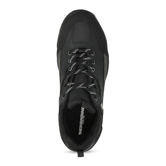 Czarne skórzane trampki męskie weinbrenner, czarny, 800-0151 - 17