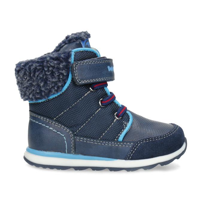 Granatowe zimowe obuwie dziecięce zociepliną, niebieski, 191-9616 - 19