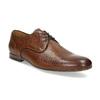 Brązowe skórzane półbuty męskie conhpol, brązowy, 826-4708 - 13