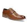 Brązowe skórzane półbuty męskie bata, brązowy, 826-3615 - 13