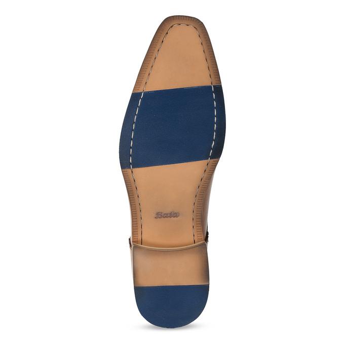 Brązowe skórzane półbuty męskie bata, brązowy, 826-3615 - 18