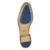 Brązowe skórzane półbuty ze zdobieniami brogue bata, brązowy, 823-3654 - 18
