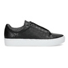 Czarne skórzane buty sportowe vagabond, czarny, 624-6014 - 19