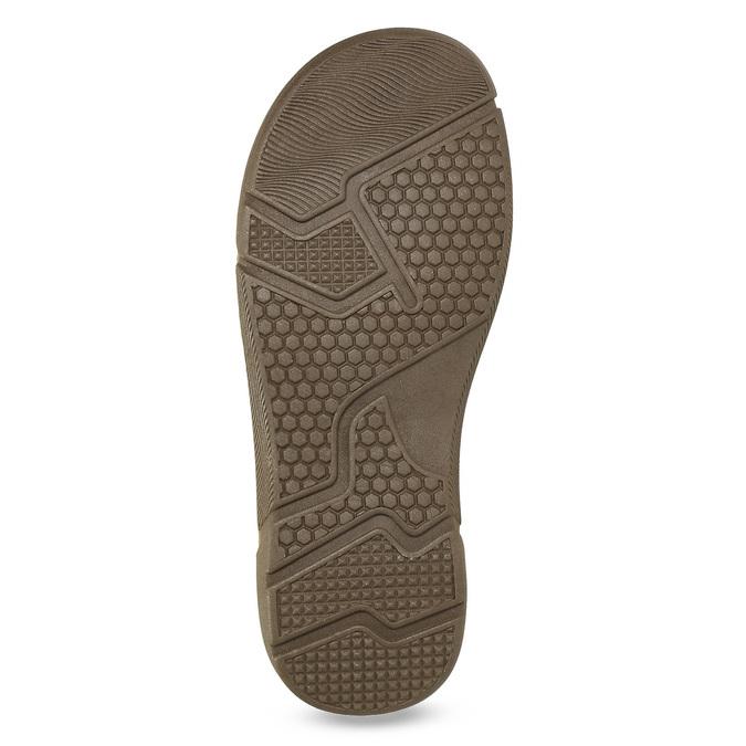 Czarno-granatowe skórzane sandały męskie weinbrenner, brązowy, 866-4643 - 18