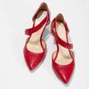 Skórzane czółenka z paskiem bata, czerwony, 724-5904 - 16