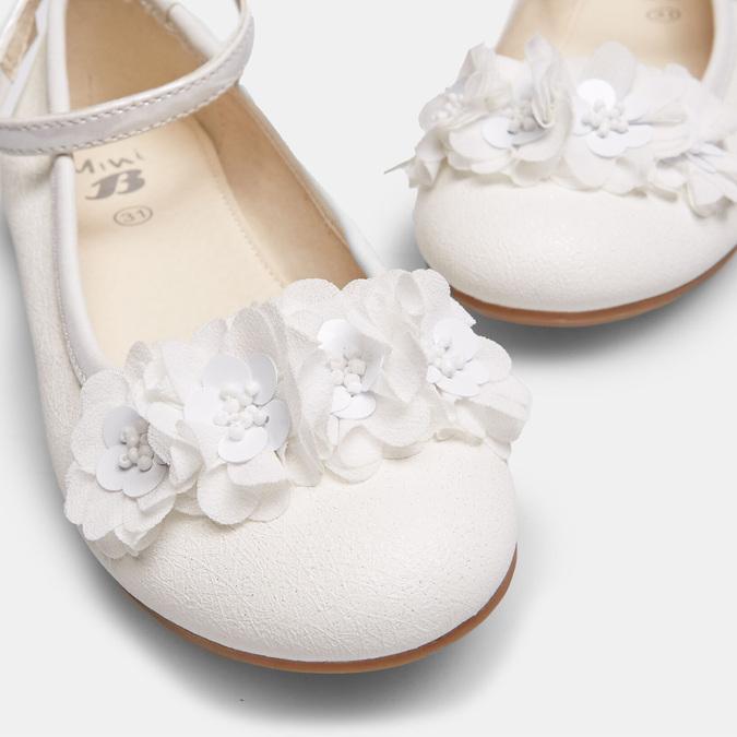 Białe baleriny zkwiatkami mini-b, biały, 321-1162 - 16