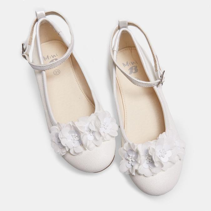 Białe baleriny zkwiatkami mini-b, biały, 321-1162 - 26