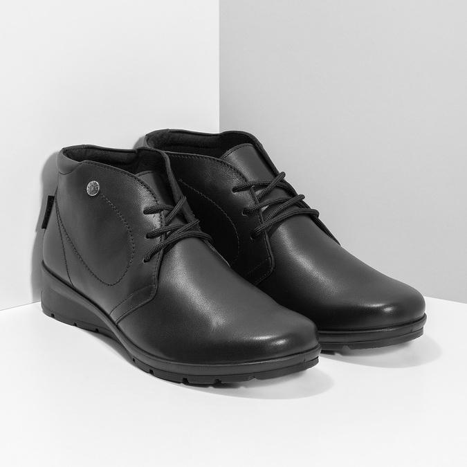 Skórzane botki damskie comfit, czarny, 594-6707 - 26