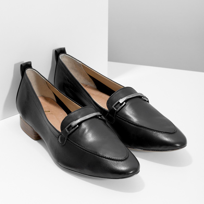 a542fb133fa902 ... Skórzane mokasyny damskie z wędzidłami bata, czarny, 516-6619 - 26 ...